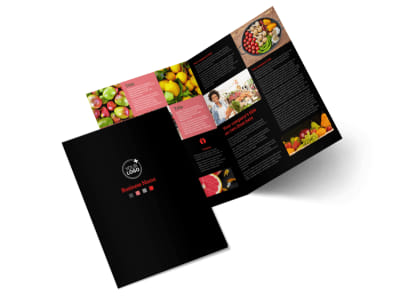 Fresh Produce Market Bi-Fold Brochure Template 2