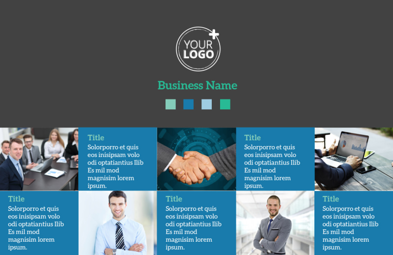 Portfolio Management Firm Postcard Template Preview 2