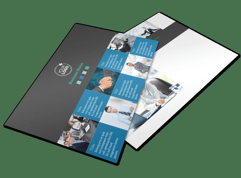 Portfolio Management Firm Postcard Template Preview 1