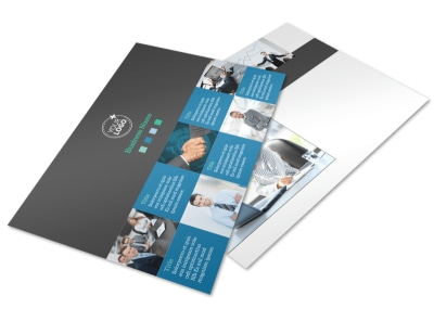 Portfolio Management Firm Postcard Template preview