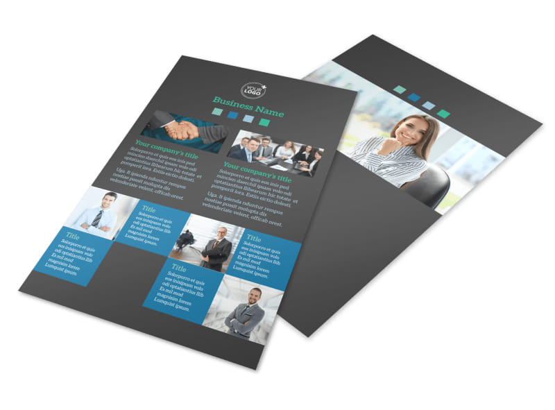 Portfolio Management Firm Flyer Template 3