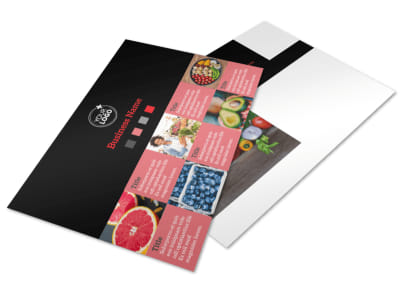 Fresh Produce Market Postcard Template 2 preview