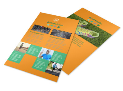 Your Next Running Club Flyer Template 3