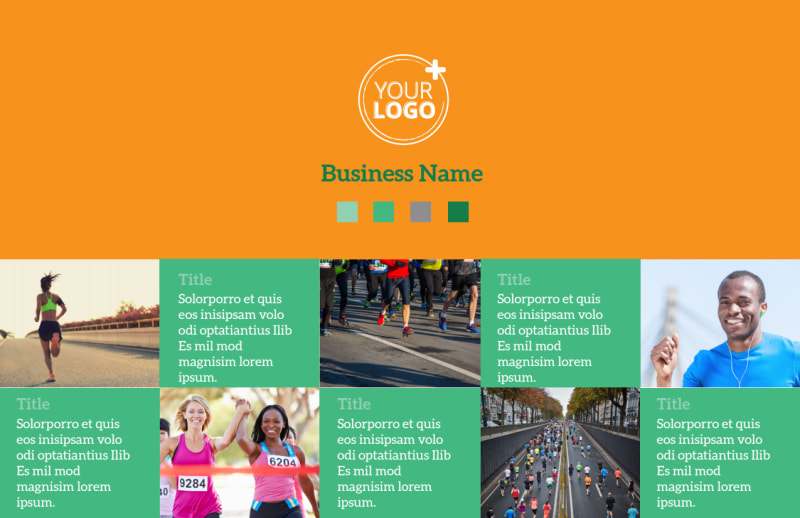 Your Next Running Club Postcard Template Preview 2