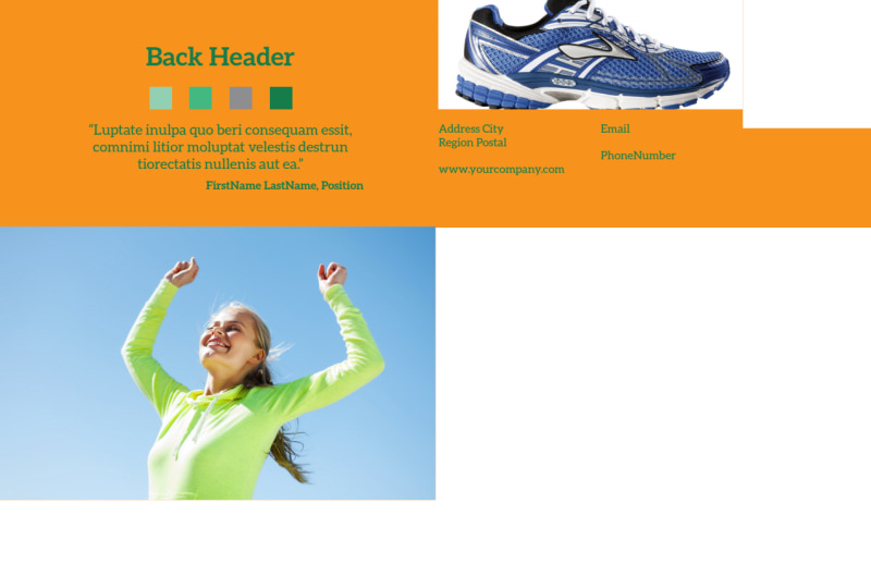 Your Next Running Club Postcard Template Preview 3