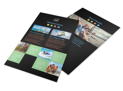 Travel Adventure Activities Flyer Template 3
