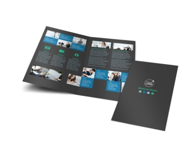 Portfolio Management Firm Bi-Fold Brochure Template preview