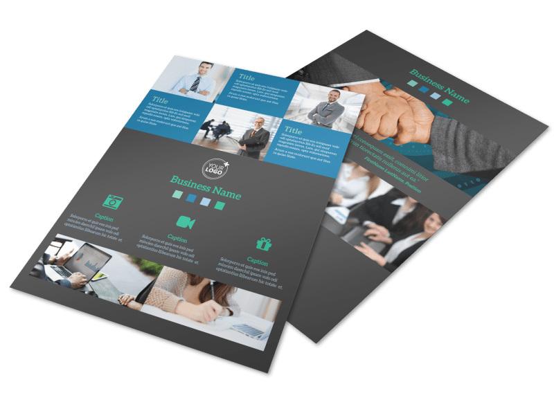Portfolio Management Firm Flyer Template Preview 4