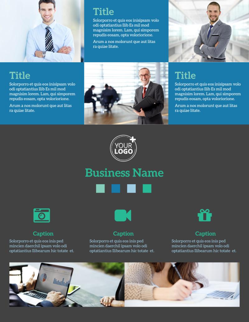 Portfolio Management Firm Flyer Template Preview 2