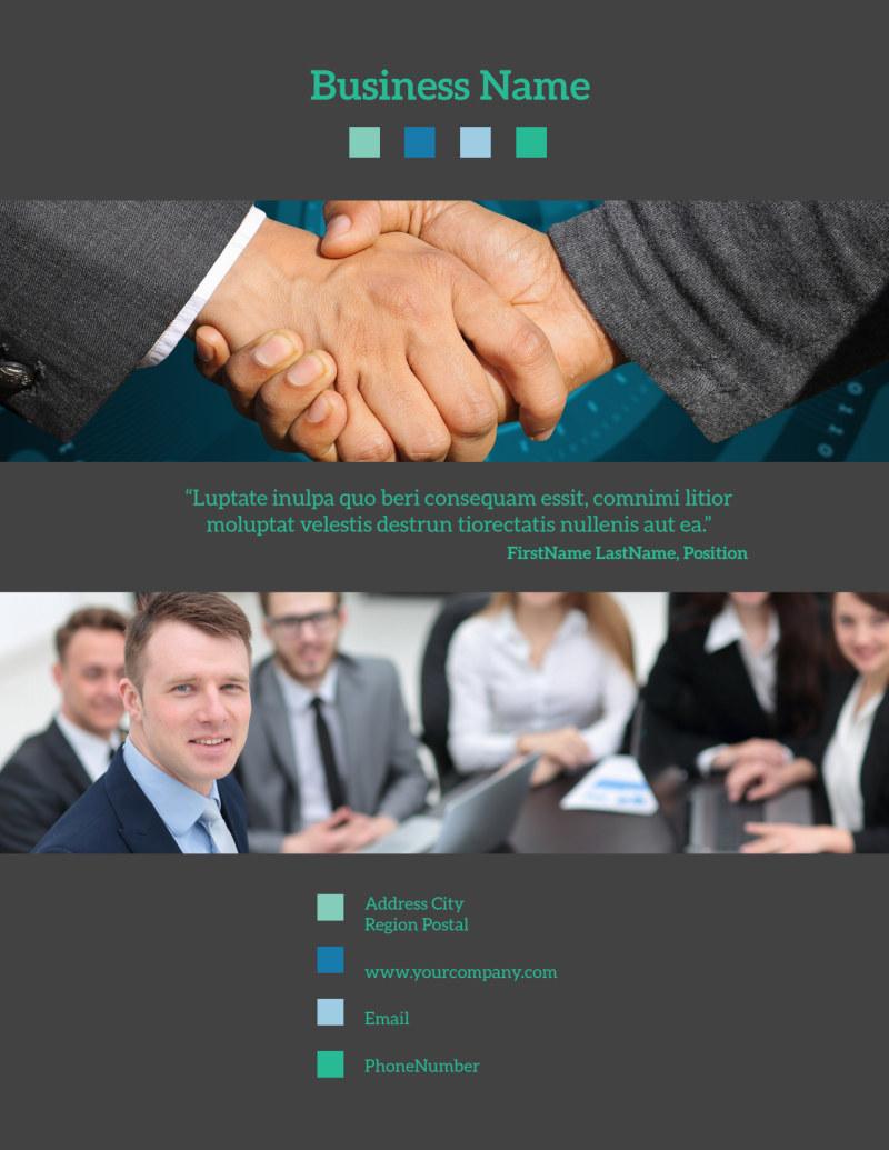 Portfolio Management Firm Flyer Template Preview 3