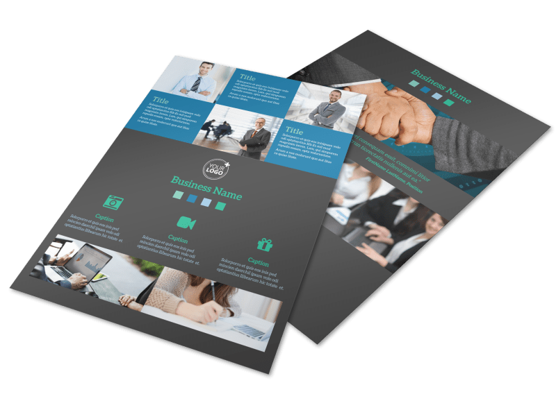 Portfolio Management Firm Flyer Template Preview 1