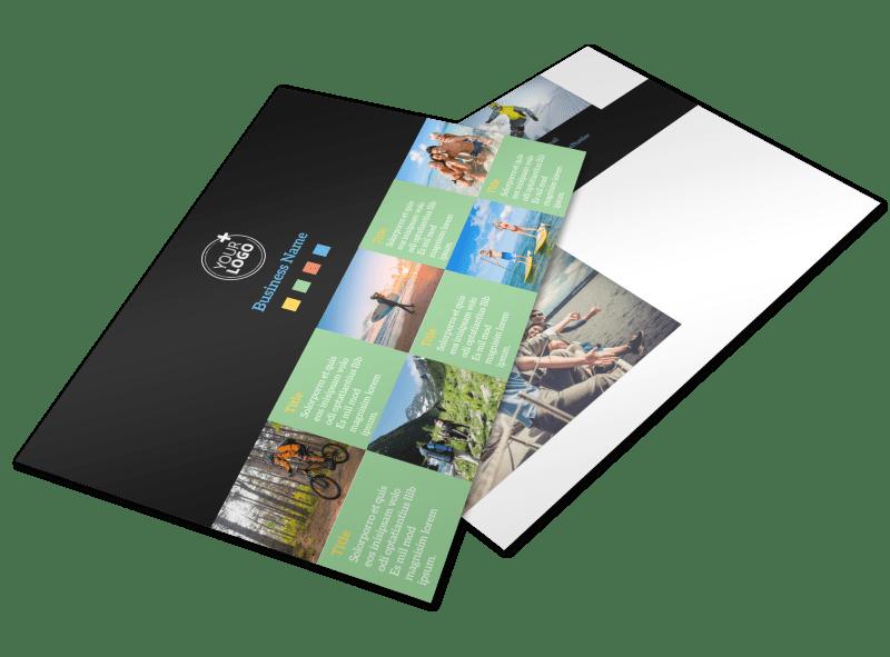 Travel Adventure Activities Postcard Template Preview 1