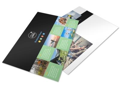 Travel Adventure Activities Postcard Template preview