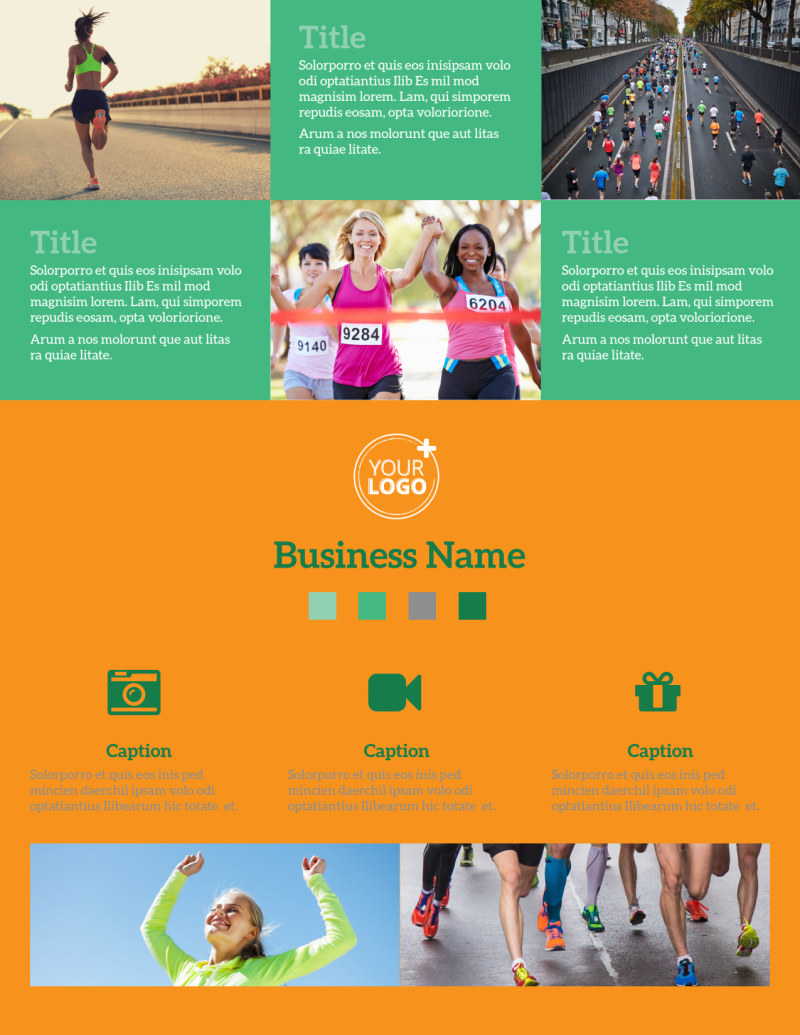 Your Next Running Club Flyer Template Preview 2