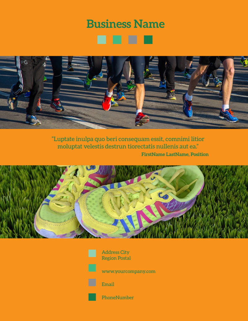 Your Next Running Club Flyer Template Preview 3