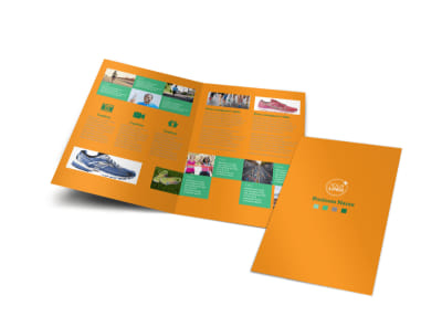 Your Next Running Club Bi-Fold Brochure Template preview