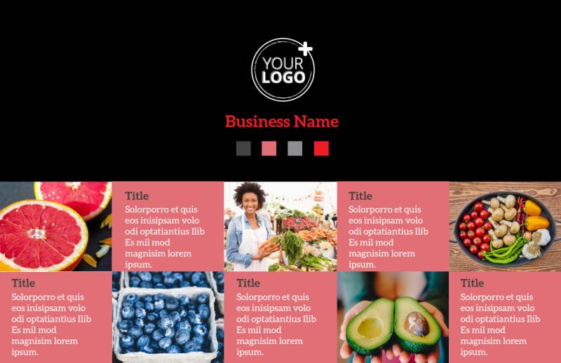Fresh Produce Market Postcard Template Preview 2