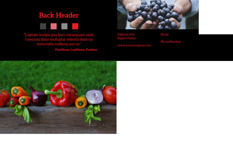 Fresh Produce Market Postcard Template Preview 3