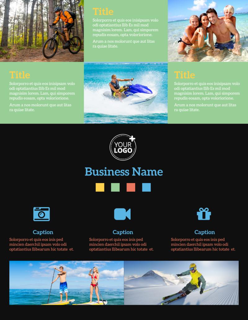 Travel Adventure Activities Flyer Template Preview 2