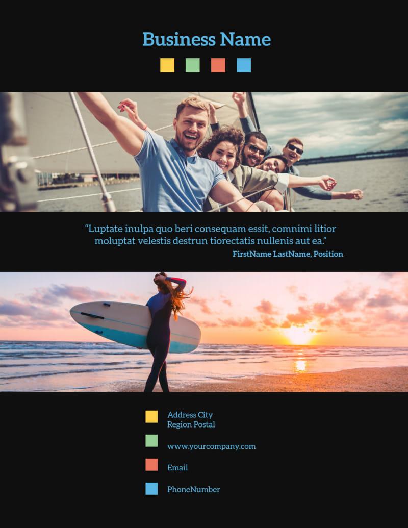 Travel Adventure Activities Flyer Template Preview 3