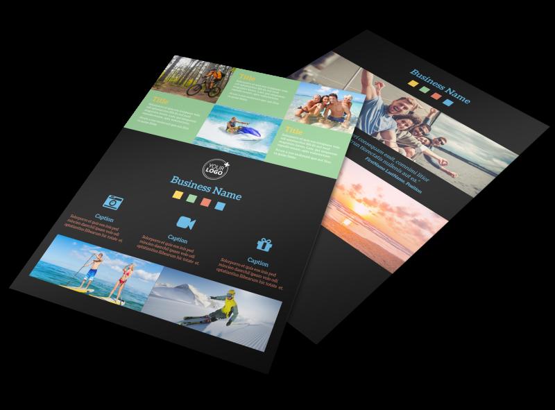 Travel Adventure Activities Flyer Template Preview 1