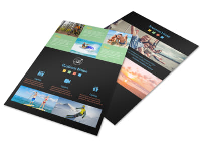 Travel Adventure Activities Flyer Template
