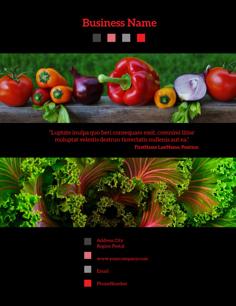 Fresh Produce Market Flyer Template Preview 3