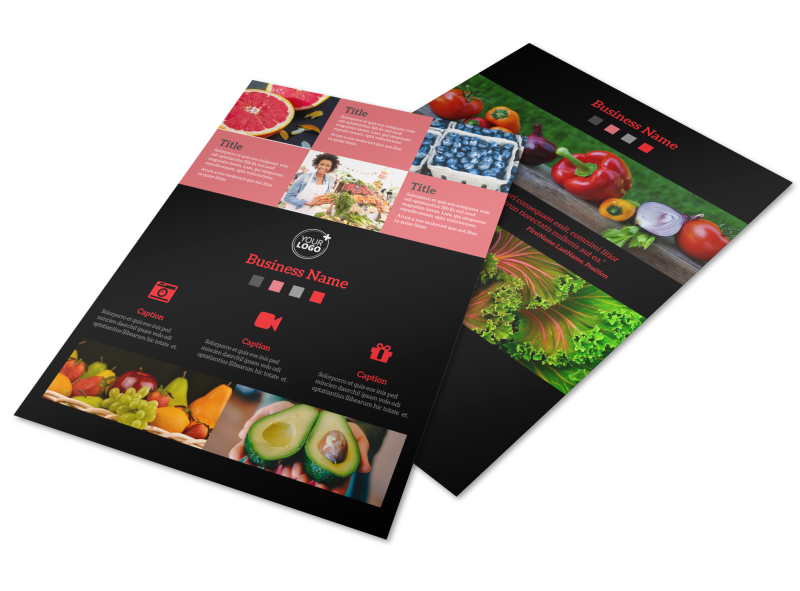 Fresh Produce Market Flyer Template Preview 1