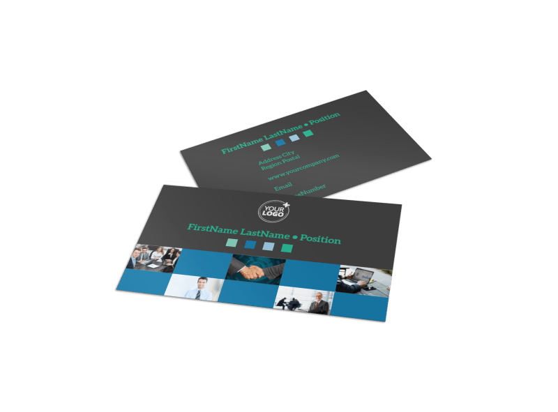 Portfolio Management Firm Business Card Template Preview 1