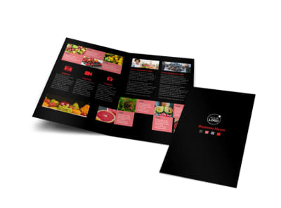 Fresh Produce Market Bi-Fold Brochure Template