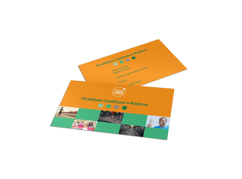 Your Next Running Club Business Card Template Preview 1