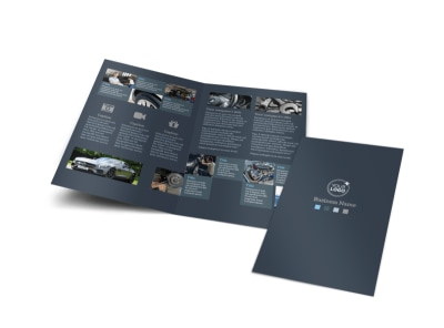 Auto Maintenance Bi-Fold Brochure Template
