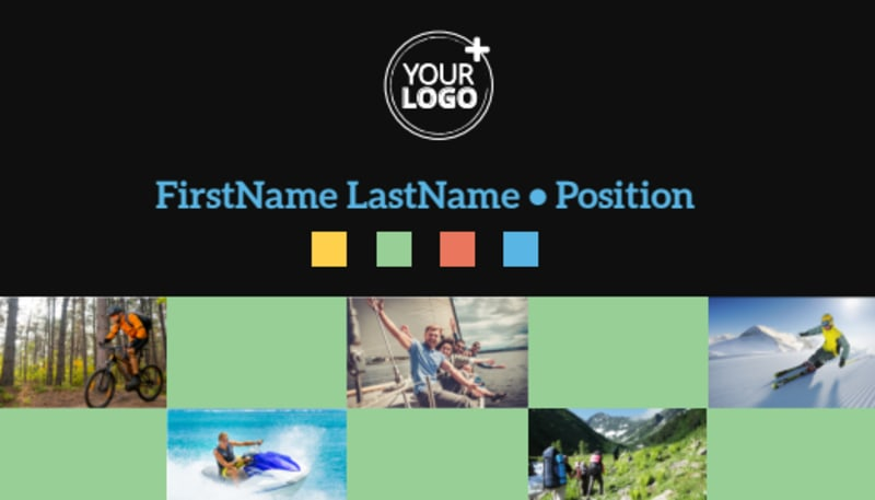 Travel Adventure Activities Business Card Template Preview 2