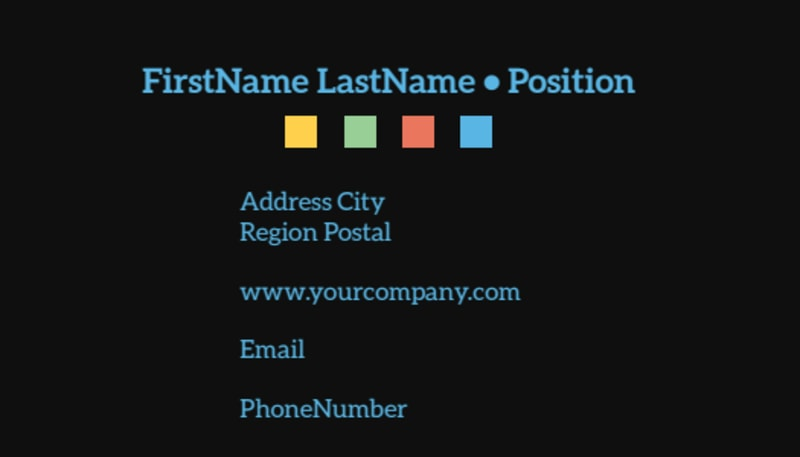 Travel Adventure Activities Business Card Template Preview 3