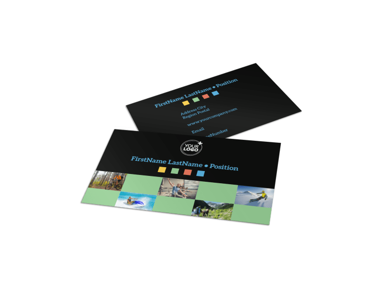 Travel Adventure Activities Business Card Template Preview 1