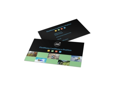 Travel Adventure Activities Business Card Template preview