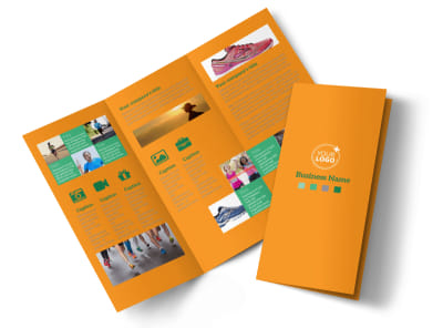 Your Next Running Club Tri-Fold Brochure Template preview