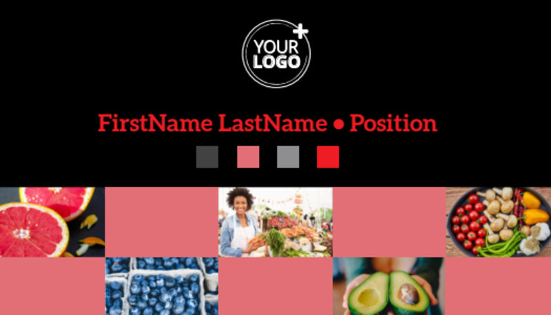 Fresh Produce Market Business Card Template Preview 2