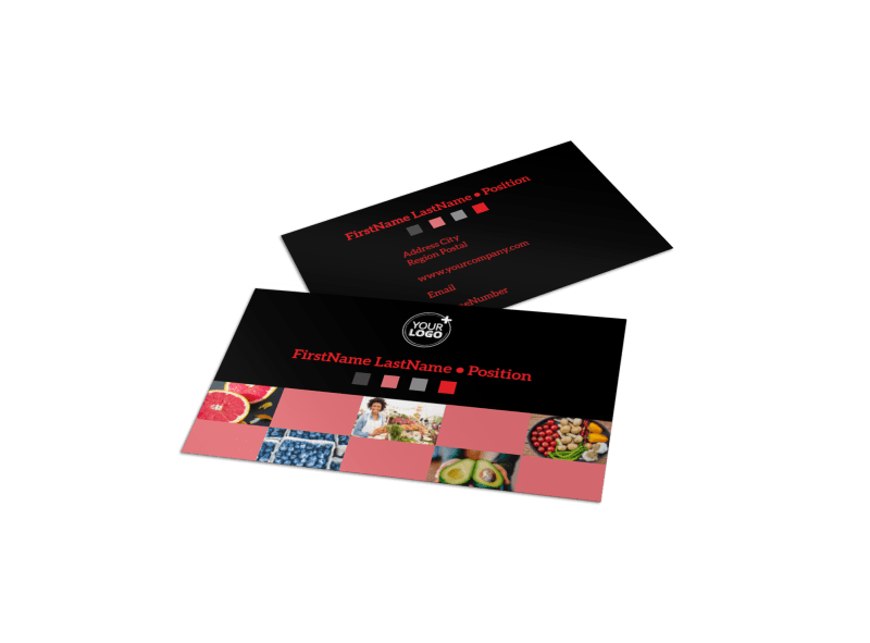 Fresh Produce Market Business Card Template Preview 1