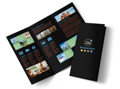 Travel Adventure Activities Tri-Fold Brochure Template