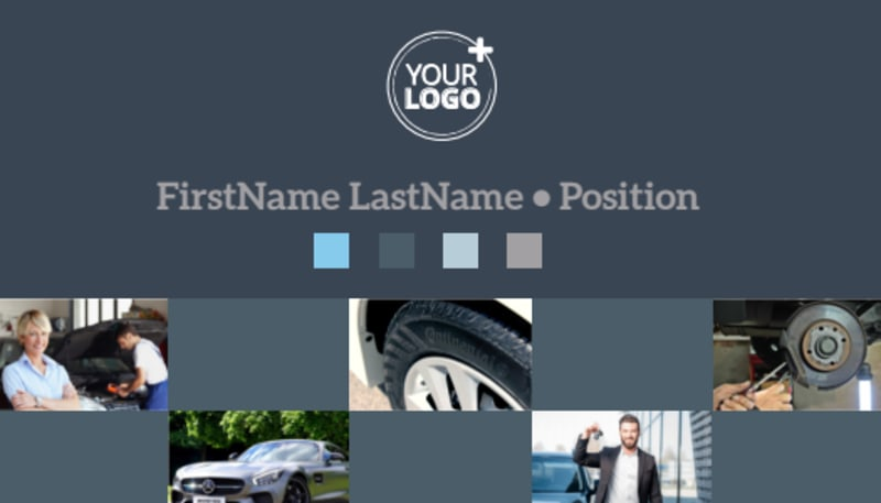 Auto Maintenance Business Card Template Preview 2