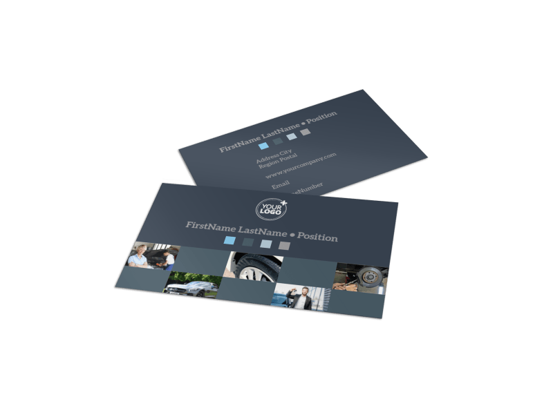 Auto Maintenance Business Card Template Preview 1