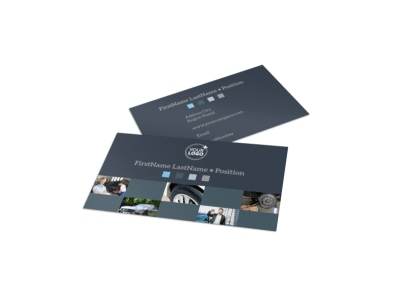 Auto Maintenance Business Card Template preview