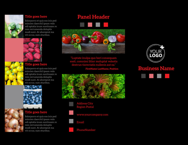 Fresh Produce Market Brochure Template Preview 2