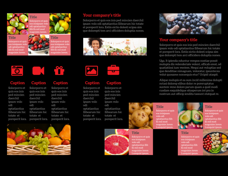 Fresh Produce Market Brochure Template Preview 3