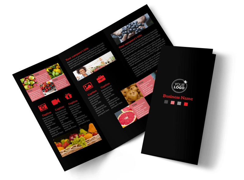 Fresh Produce Market Brochure Template Preview 1