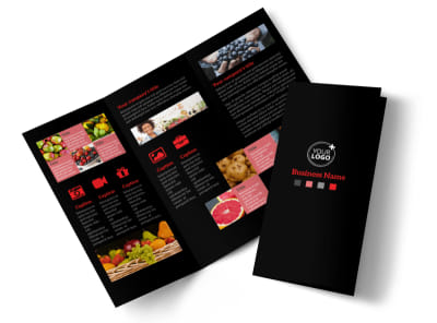 Fresh Produce Market Tri-Fold Brochure Template preview