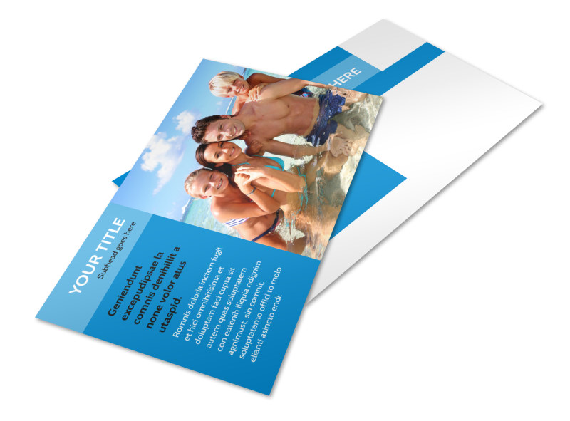 Family Beach Resort Postcard Template 2