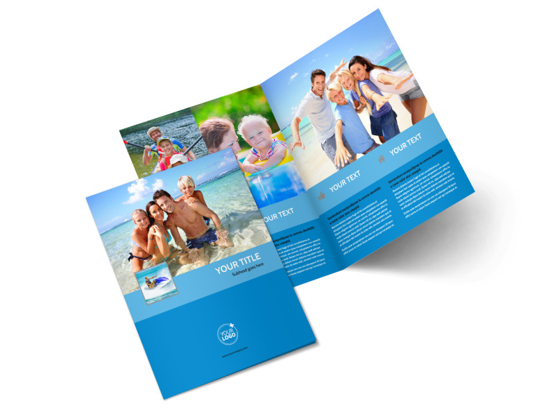 Family Beach Resort Bi-Fold Brochure Template 2