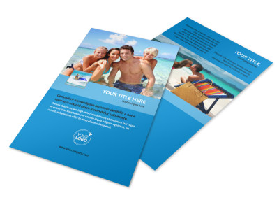 Family Beach Resort Flyer Template 3